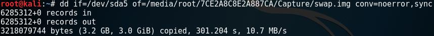 Data Dump(dd)